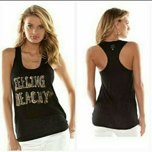 Juicy Couture Black and Gold Beach Tank Medium